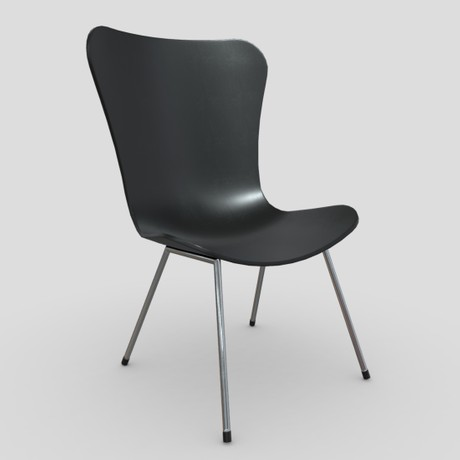 Chair 5 - low poly PBR 3d model