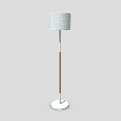Standing Lamp - low poly PBR 3d model