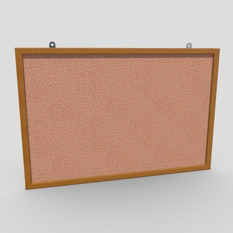 Corkboard - low poly PBR 3d model