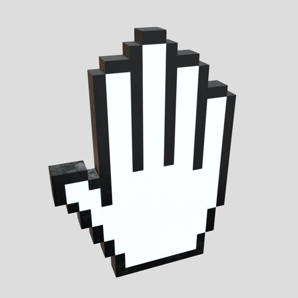 Cursor Hand 3 - low poly PBR 3d model