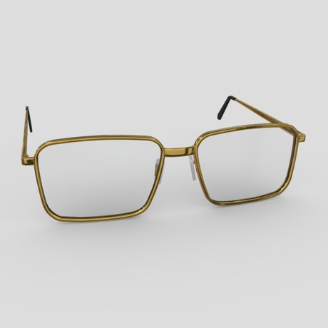 Glasses - low poly PBR 3d model