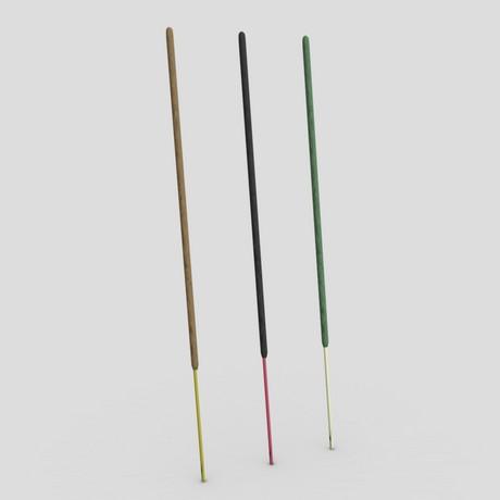 Incense Stick - low poly PBR 3d model