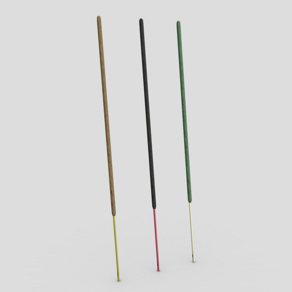 Incense Stick - low poly PBR 3d model
