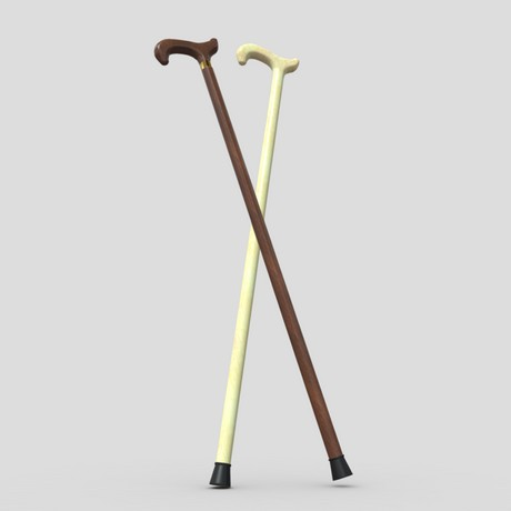 Walking Stick 2 - low poly PBR 3d model