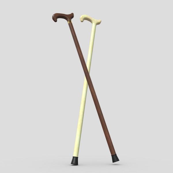 Walking Stick 2 - low poly PBR 3d model