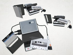 Tape Recorder Set - 3D Model