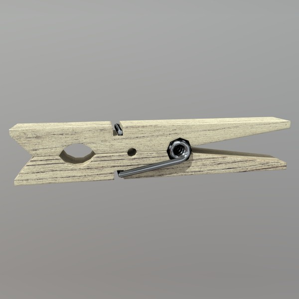 Clothespin - low poly PBR 3d model