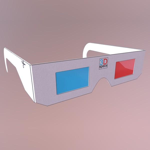 3D Specs / Glasses - low poly PBR 3d model