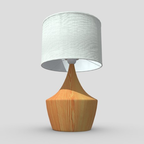 Table Lamp 4 - low poly PBR 3d model