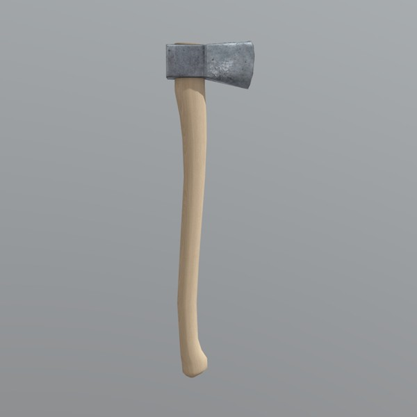 Axe - low poly PBR 3d model