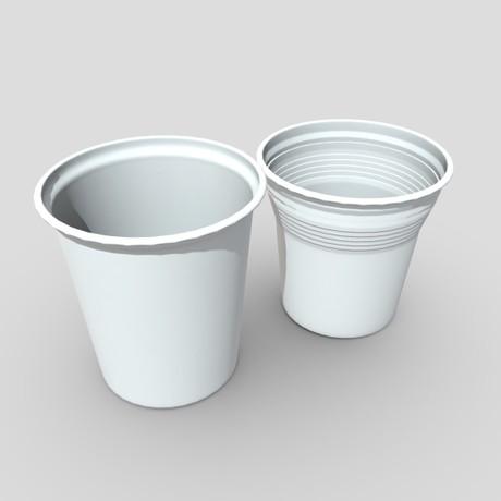 Plastic Cup Set 2 - low poly PBR 3d model