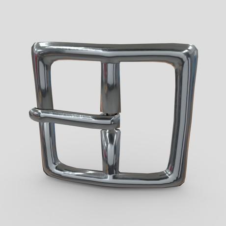Buckle 2 - low poly PBR 3d model