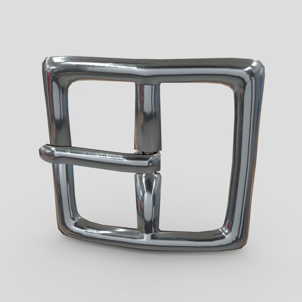 Buckle 2 - low poly PBR 3d model
