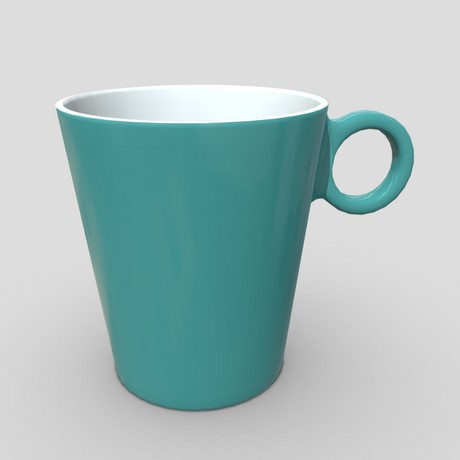 Mug 6 - low poly PBR 3d model
