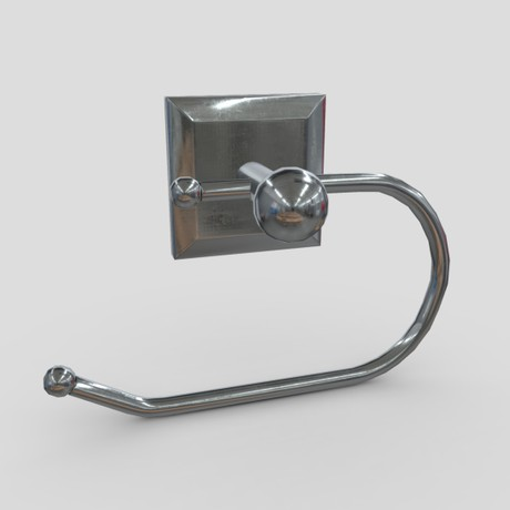 Toilet Roll Holder 2 - low poly PBR 3d model