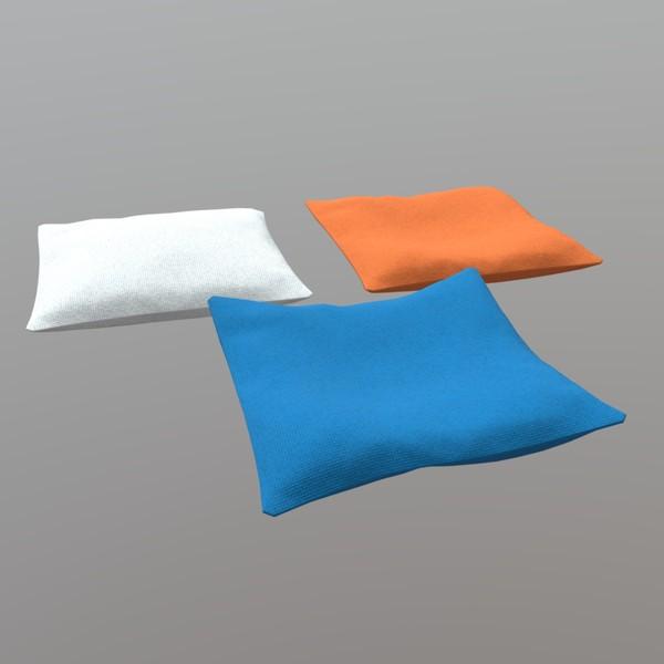 Pillow - low poly PBR 3d model