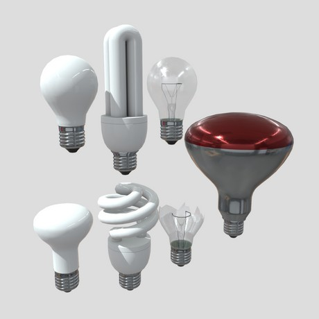 Light Bulb Pack - low poly PBR 3d model
