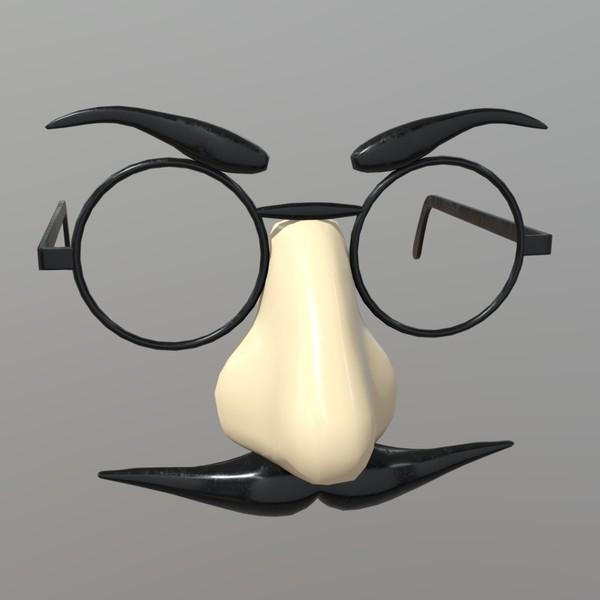 Novelty Glasses - low poly PBR 3d model
