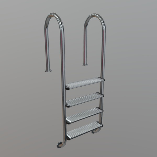 Pool Ladder - low poly PBR 3d model