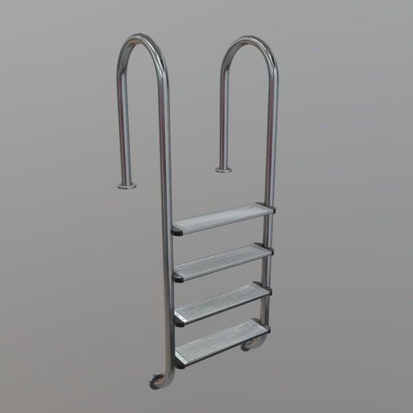 Pool Ladder - low poly PBR 3d model