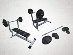 Press Bench - 3D Model