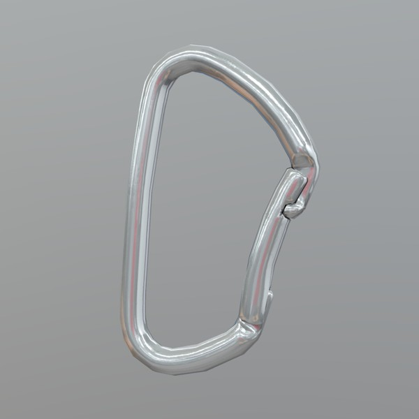 Carabiner - low poly PBR 3d model