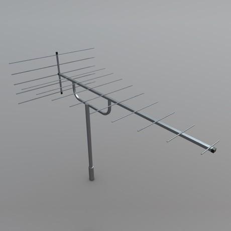 Antenna - low poly PBR 3d model