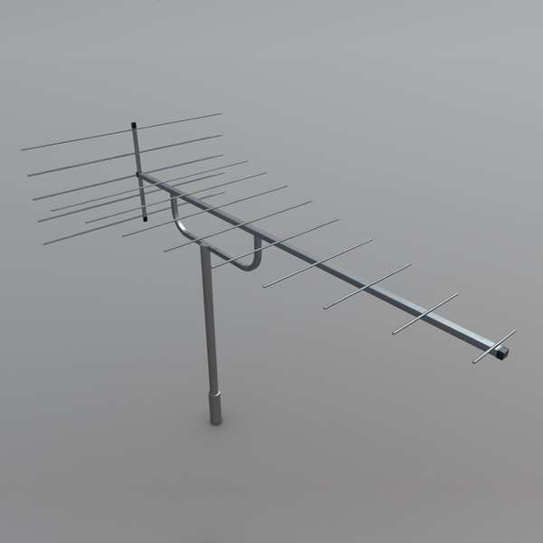 Antenna - low poly PBR 3d model