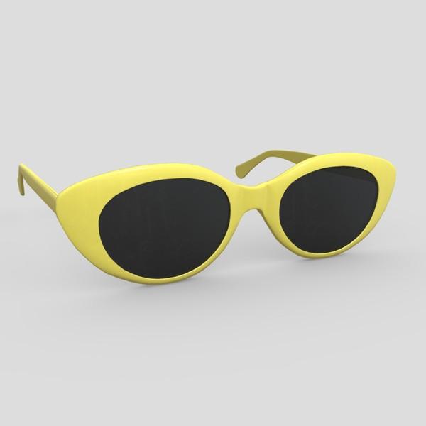 Sunglasses 2 - low poly PBR 3d model
