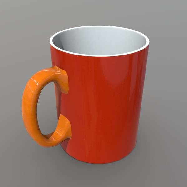 Mug 2 - low poly PBR 3d model