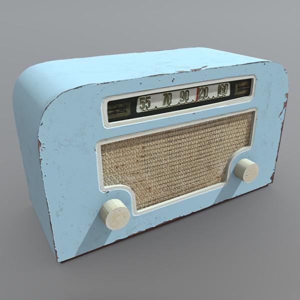 Radio - low poly PBR 3D Model