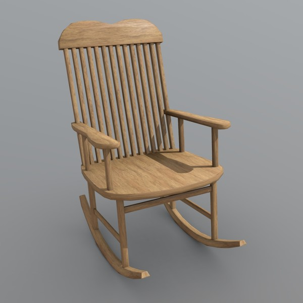 Rocking Chair - low poly PBR 3d model