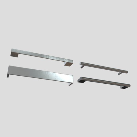 Handle Set - low poly PBR 3d model