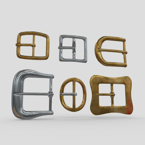 Buckle Set - low poly PBR 3d model