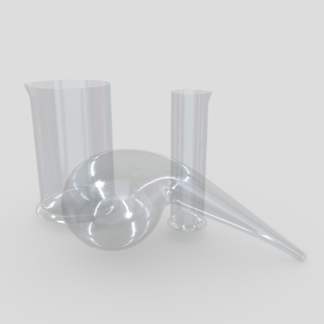 Laboratory Flask 2 - low poly PBR 3d model