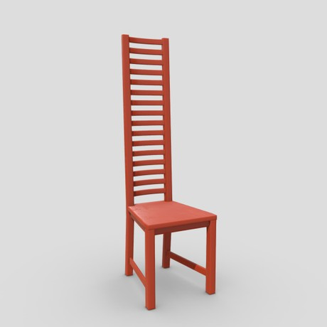 Chair 7 - low poly PBR 3d model