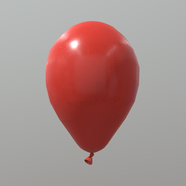 Balloon - low poly PBR 3d model