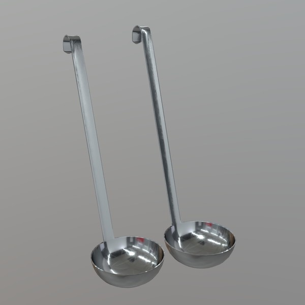Ladle - low poly PBR 3d model