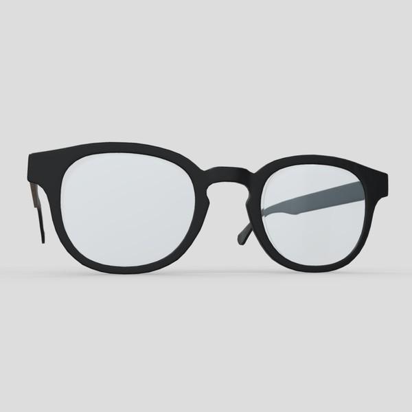 Glasses 6 - low poly PBR 3d model