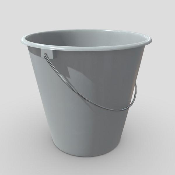 Bucket 4 - low poly PBR 3d model