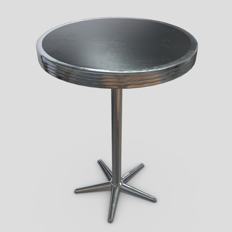 Table 5 - low poly PBR 3d model