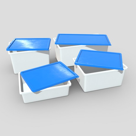 Food Container Pack - low poly PBR 3d model