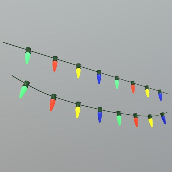 Fairy Lights - low poly PBR 3d model