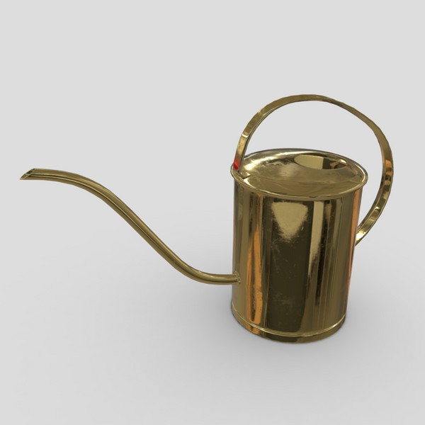 Watering Can 5 - low poly PBR 3d model