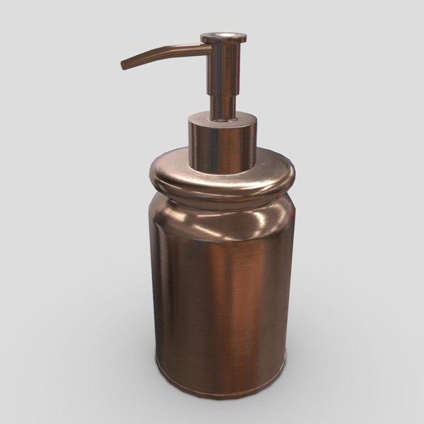 Soap Dispenser 4 - low poly PBR 3d model