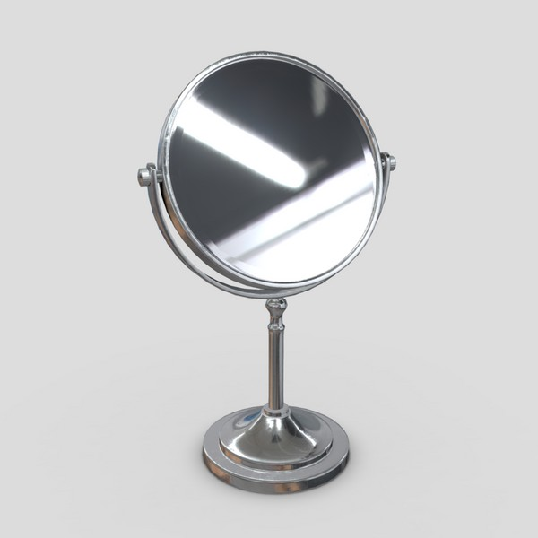 Cosmetic Mirror - low poly PBR 3d model