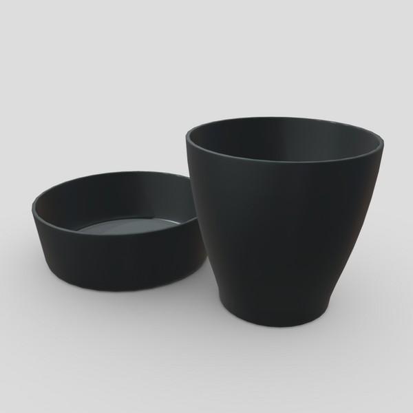 CC0 - Plaster Cup - low poly PBR 3d model