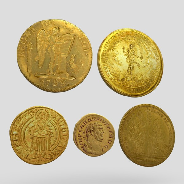 Gold Coin Pack - low poly PBR 3d model
