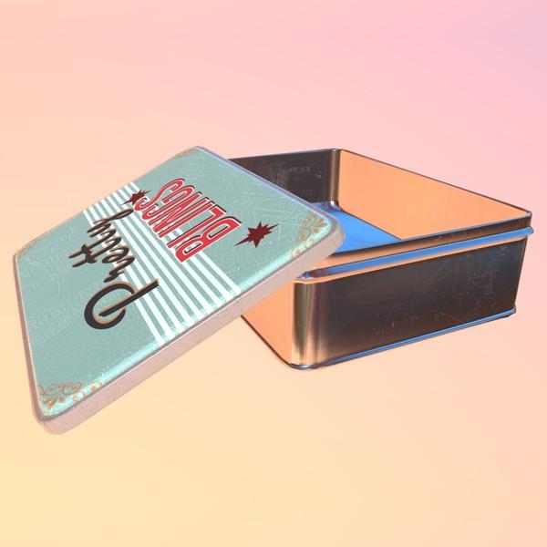 Square box (Pretty Blings) - PBR 3D Model