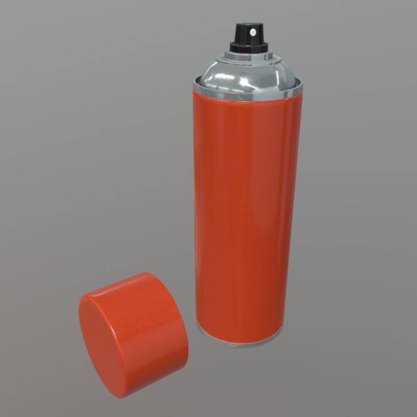 Spray Can - low poly PBR 3d model